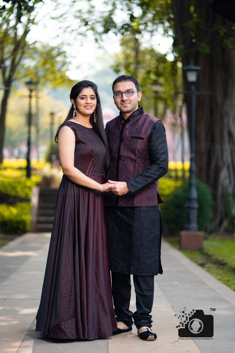 brown outfit combinatio for bride-groom