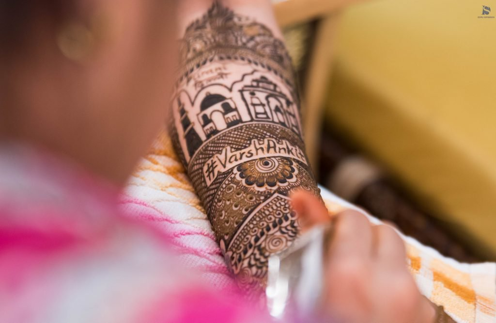 Hashtags in Your Mehndi Design