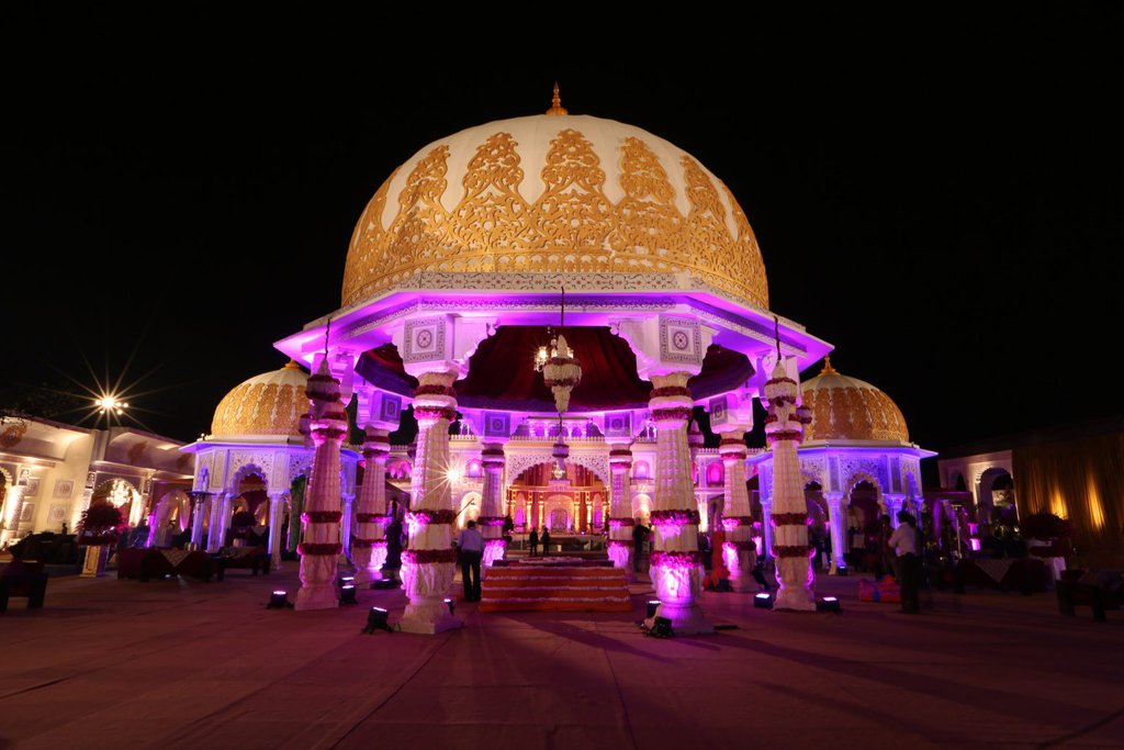 beautiful dome like structure with traditional decoration