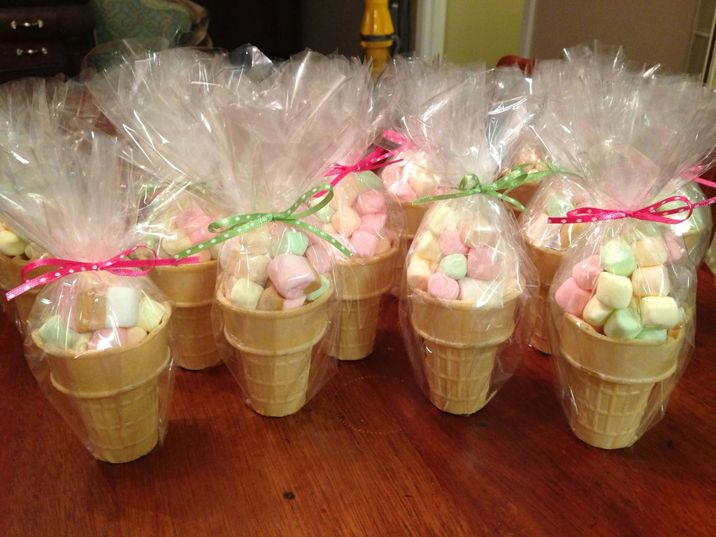 a full packet of marshmallow cones for Haldi and Mehndi Favours
