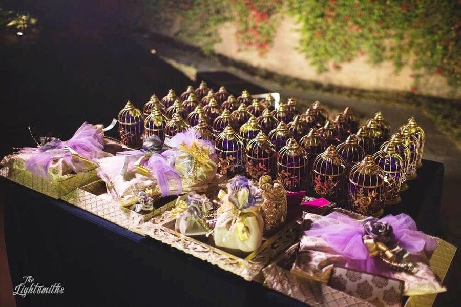 chocolates as a display wedding favour in weddings