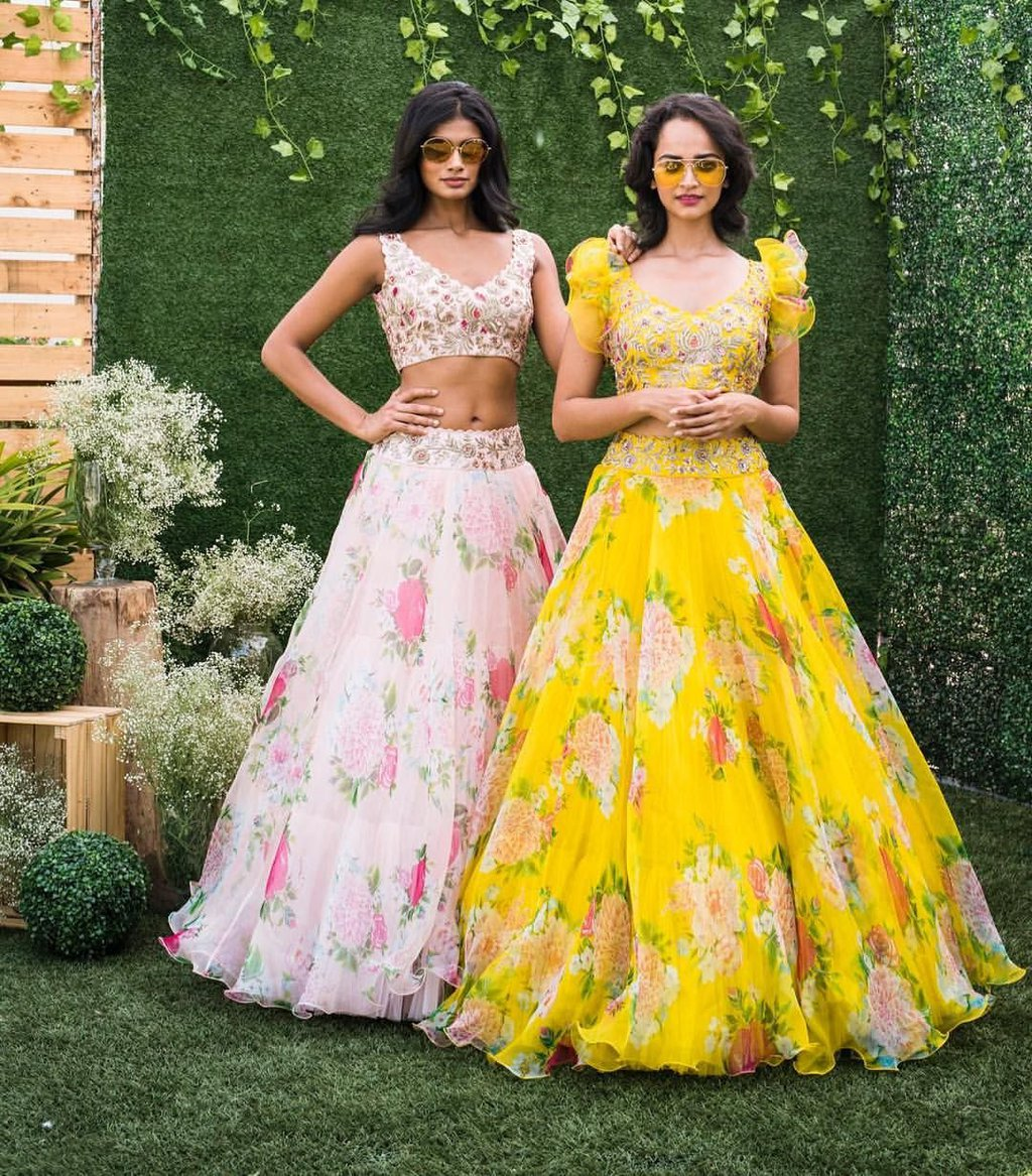 Bridal haldi functions outfits