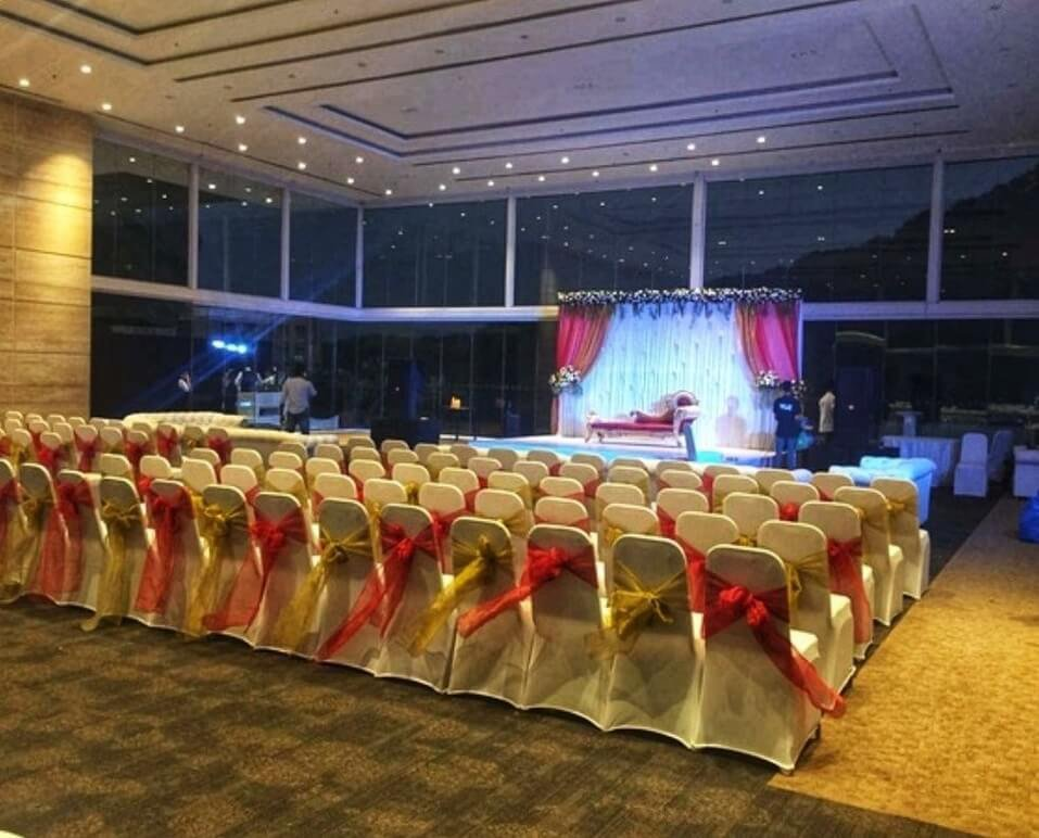 decorated stage area at athena banquets - Banquet Hall in Mumbai
