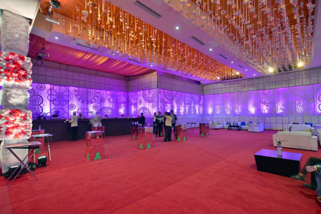 interior area decorated with lavender pink theme