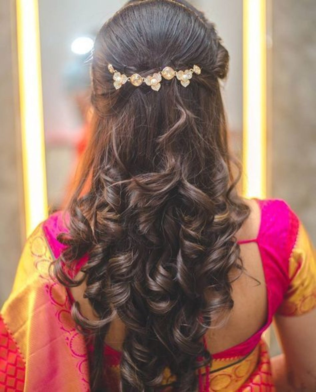 Open-hairstyle for  brides